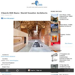 Church Hill Barn / David Nossiter Architects