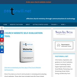 Church Website Self-Evaluation Tool