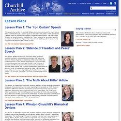 Churchill Archive - Lesson Plans