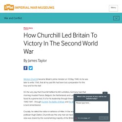 How Churchill Led Britain To Victory In The Second World War