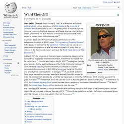 ward churchill native american essay In 3-4 pages, please address the following issues briefly, explicate (in one paragraph) what churchill argues then spend the majority of the paper.