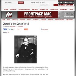"Churchill's ""Iron Curtain"" at 65"