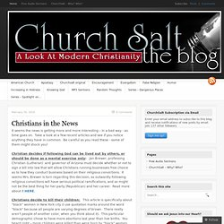 ChurchSalt | A look at modern Christianity