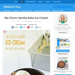 No-Churn Vanilla Keto Ice-Cream