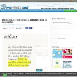 churnalism, herramienta para detectar plagio en documentos