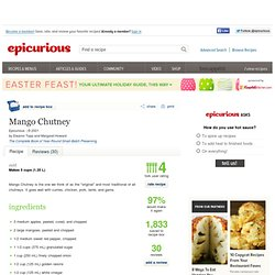 Mango Chutney Recipe at Epicurious