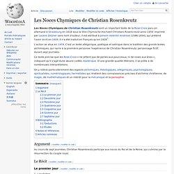 Les Noces Chymiques de Christian Rosenkreutz