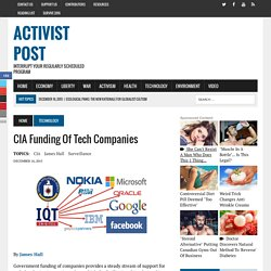 CIA Funding of Tech Companies