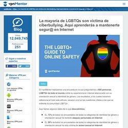La mayoría de LGBTQs son víctima de ciberbullying. Aquí aprenderás a mantenerte segur@ en Internet
