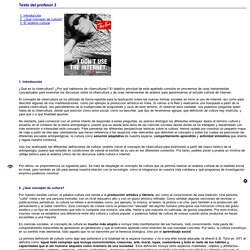 Cibercultura y ciberculturas