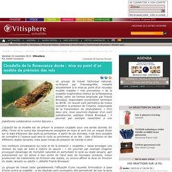 VITISPHERE 14/11/14 Cicadelle de la flavescence dorée : mise au point d'un modèle de prévision des vols