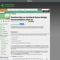 Simone Cicchetti's Blog - Practical tips on technical Game Design Documentation (Part 2)