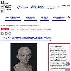Cicéron, orateur et homme politique romain