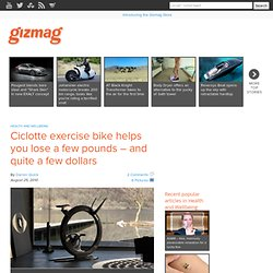 Ciclotte exercise bike helps you lose a few pounds – and quite a few dollars