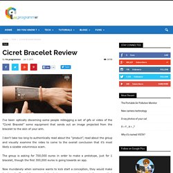 Cicret Bracelet Review