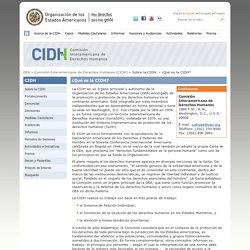 ¿Qué es la CIDH?