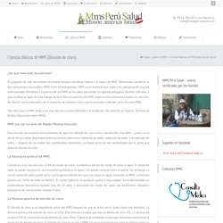 Ciencias Básicas de MMS (Dioxido de cloro)