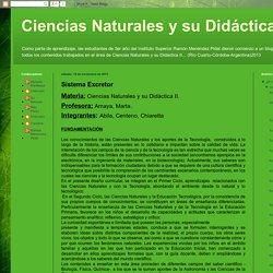 Ciencias Naturales y su Didáctica II: Sistema Excretor