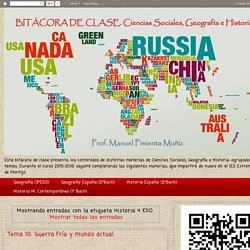 Blog de Ciencias Sociales. Curso 2015-2016: Historia 4 ESO