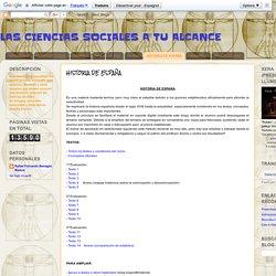 LAS CIENCIAS SOCIALES A TU ALCANCE: HISTORIA DE ESPAÑA