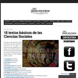 16 textos básicos de las Ciencias Sociales