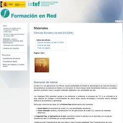 Ciencias Sociales y la web 2.0 (EDA)