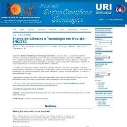 Ensino de Ciências e Tecnologia em Revista - ENCITEC