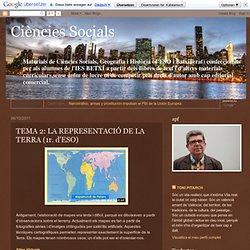 Ciències Socials: TEMA 2: LA REPRESENTACIÓ DE LA TERRA (1r. d'ESO)