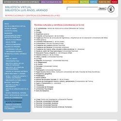 Revistas culturales y científicas (colombianas) en la red