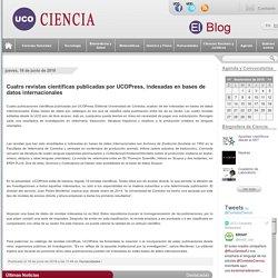 UCONEWS - Cuatro revistas científicas publicadas por UCOPress, indexadas en bases de datos internacionales