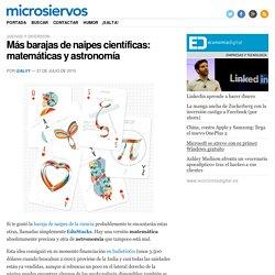 Más barajas de naipes científicas: matemáticas y astronomía