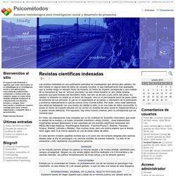 Revistas científicas indexadas « Psicométodos
