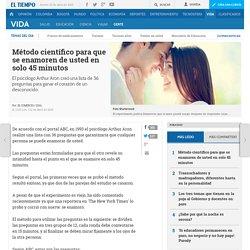 Método científico para enamorar en 45 minutos - Gente