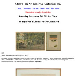 Clark Cierlak Fine Arts Estate Auction Service