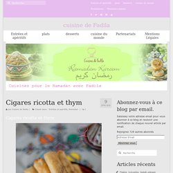Cigares ricotta et thym