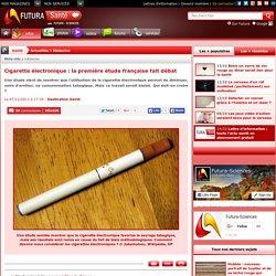 Cigarette électronique : la première étude française fait débat