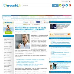 E-cigarette et mesures anti e-cigarette, e-sante.fr