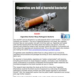 Cigarettes are loaded with harmful bacteria!