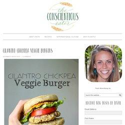 Cilantro Chickpea Veggie Burgers