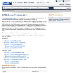 CIM Schema: Version 2.44.1