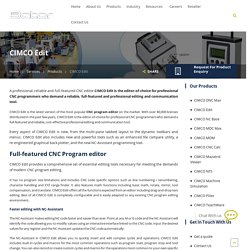CIMCO CNC Edit Software for CNC Programmers in India
