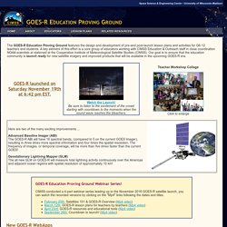 CIMSS GOES-R Education Proving Ground