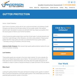 Cincinnati Gutter Protection: Options For High Quality Gutter Protection