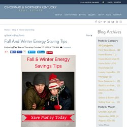 Saving Energy In The Cold Fall And Winter Months