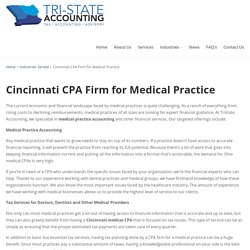 Cincinnati CPA Firm for Medical Practice