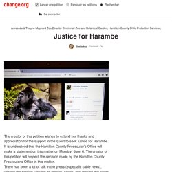 Cincinnati Zoo: Justice for Harambe