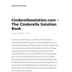 Cinderellasolution.com - The Cinderella Solution Book