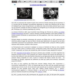 La censure aux Etats-Unis : code Hays et Maccarthysme