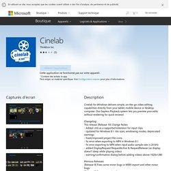 Cinelab : montage vidéo