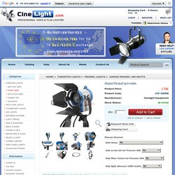 Junior Fresnel 300 watts : Cinelight.com, Video & Film Lighting Equipment. European shop.